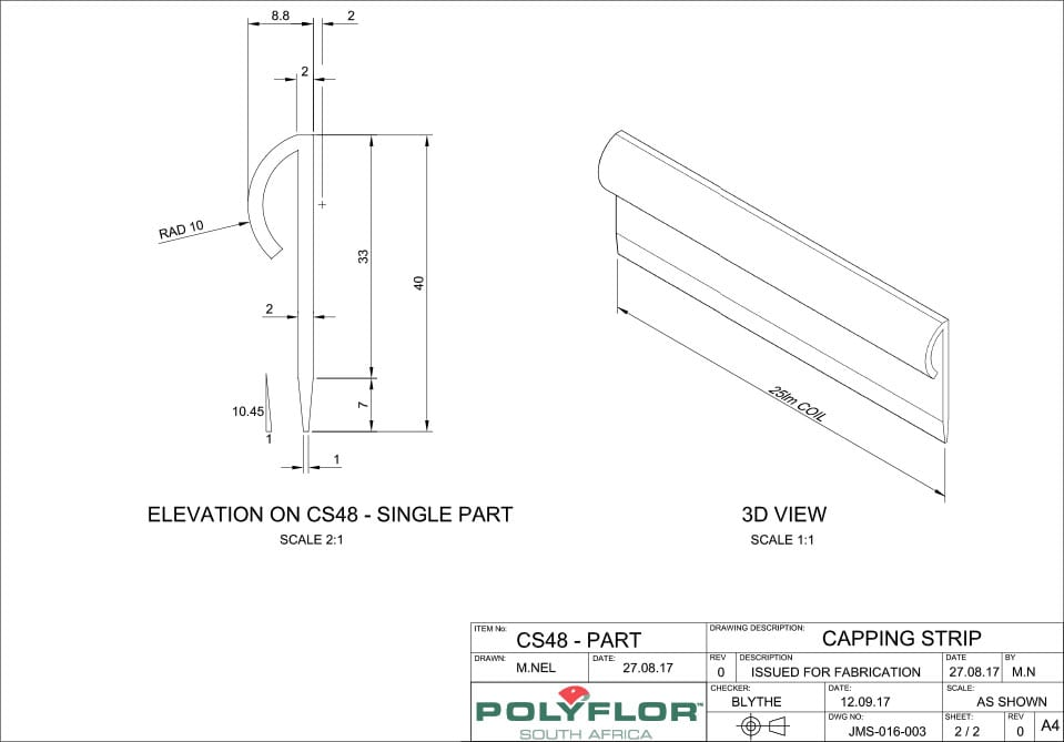 CS48 Capping Strip