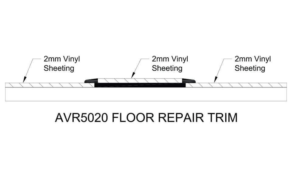 Floor Repair Trim AVR5020 Technical Drawing